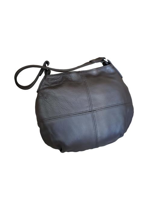 Brown Chocolate Leather Bag, Women Hobo Purse, Aida