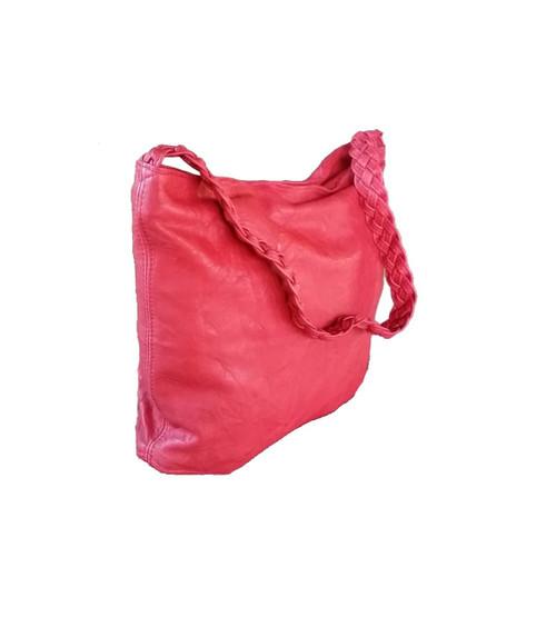 ... Boho Chic Red Leather Ho bo Bag - Braided Handle Purse - Bohemian  Shoulder Handbag claudia ... 2f27d9a897e15