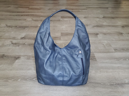 Blue Leather Hobo Bag, Large Casual Hobos, Fashion Bags, Alexis