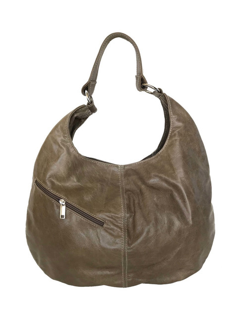 Distressed Leather Hobo Bag Purse, Slouchy Leather Bag, Large Bag for Women, Rustic Shoulder Handbag, Yoby
