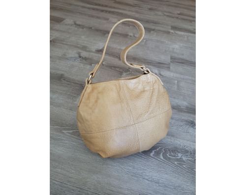 Camel Leather Hobo Bag, Women Handbags, Shoulder Bags and Purses, Aida