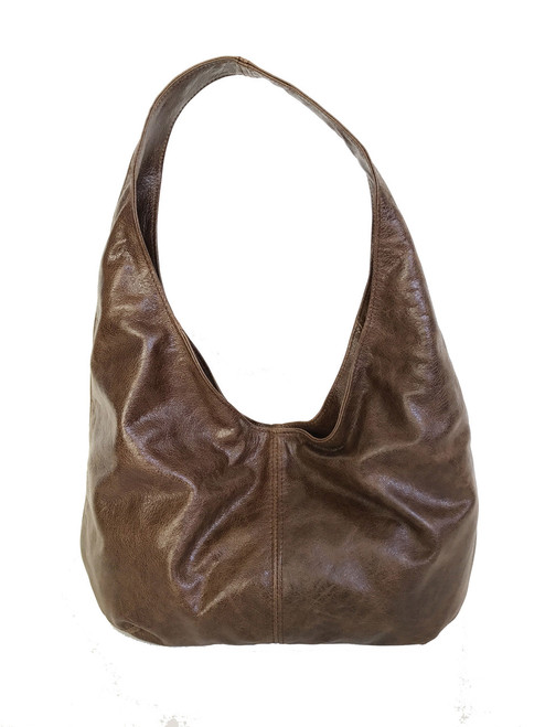 Brown Leather Hobo Bag, Slouchy Purse, Women Bags, Alice