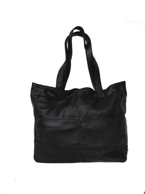 Large Leather Tote Bag w/Pockets, Casual Carryall Purse, Travel Shoulder Handbag, Women Handmade Purses,  Jessy