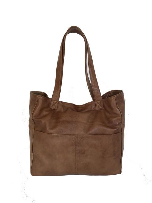 Leather Handbag, Tote Bag w/Pockets, Casual Purse, Women Trendy Purses,  Jessy