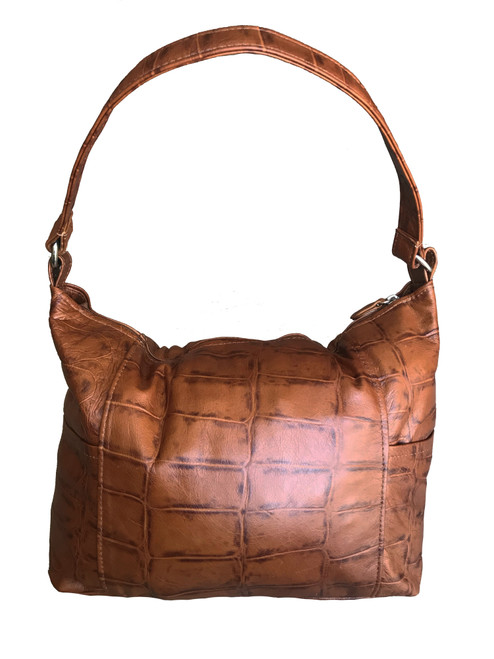 Leather Bag, Casual Hobo Purse, Everyday Handbag, Kenia