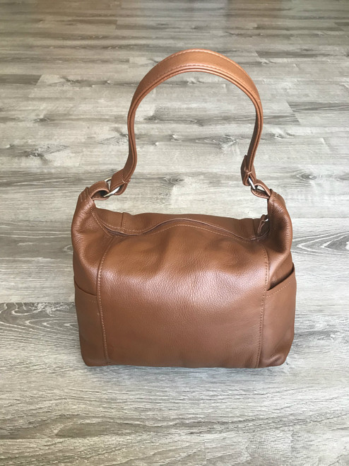 Casual Brown Leather Bag,  Fashion Trendy Handbag, Kenia