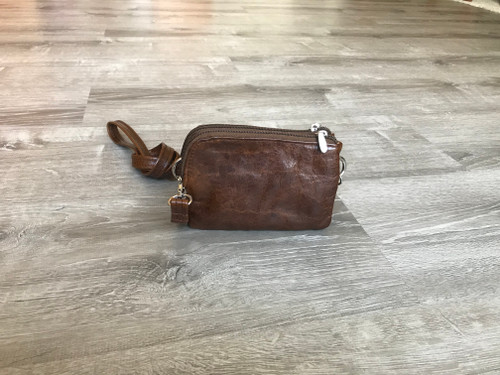 Small Brown Distressed Leather Cross body Bag, Everyday Casual Purse, Gina