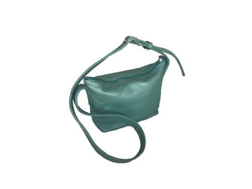 green leather cross body bag