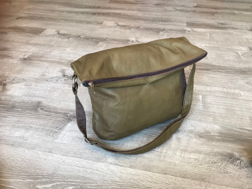 Leather Cross body Purse, Fold over Leather Bag, Women Bags, Julia