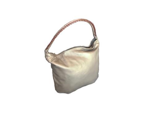 Women Hobo Leather Bag, Shoulder Handbag, Gold Bronze Handbag, Claudia