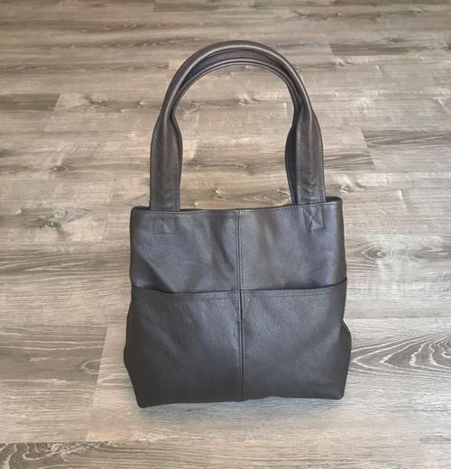 Brown Leather Bag, Everyday Handbag, Women Casual Handmade Purses and Bags, Cloe