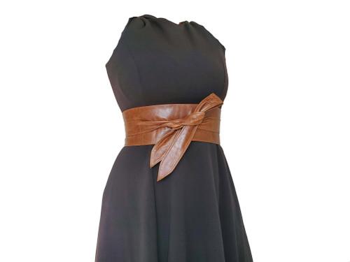 Wide Wrap Leather Belt,  Brown Distressed Obi Belt, Women Belts, Tie Urban Belts, Wraparounds Sash Belts, Dean