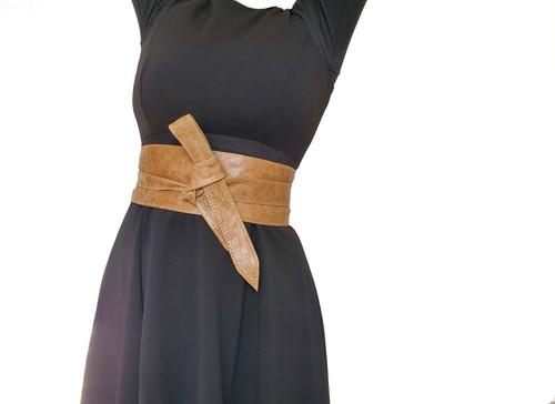 Wrap Leather Obi Belt, Wide Distressed Vintage Leather Belts, Fashion Sash Belts, Woman Belt, Trendy Accessories, Dean