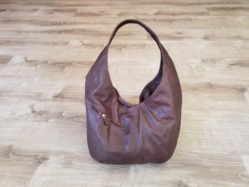 Brown Leather Hobo Bag, Woman Casual Everyday Fashion and Stylish Handmade Handbags, Gift for Her, Alicia