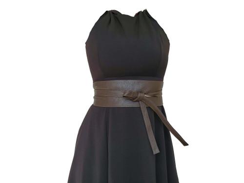 Leather Obi Belt, Wide Belts, Fashion Sash Belts, Women  Accessories, Sam
