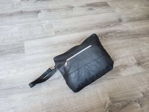 Black Leather Bag, Fashion Stylish Handmade Handbags and Purses, Angel