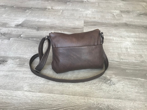 Brown Leather Cross body Bag, Everyday Small Casual Bag, Fashion and Trendy Handbags, Jazmin