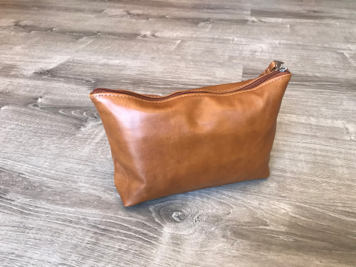 Leather Clutch Bag with Wrist Strap, Small Leather Bag, Leather Pouch, Leather Handmade Handbags, Comet
