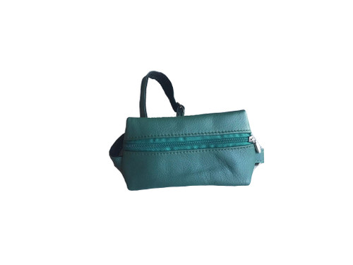 Green Leather Fanny Pack, Classic and Stylish Waist Bag, Hip Bag, Ron