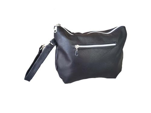 Handmade Black Leather Bag, Everyday Fashion Stylish Handbags, Angel
