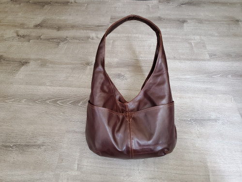 Vintage Oiled Distressed Brown Leather Bag, Classic Everyday Bags for Women, Alyna
