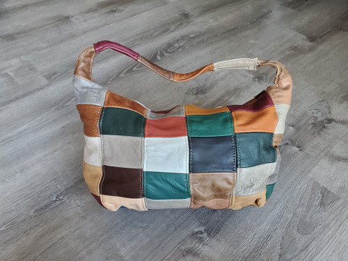 Colorful Shoulder Handbag, Rustic Textured Bag, Rosses