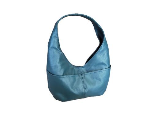 Teal Leather Bag, Women Hobo Bags, Handmade Bags, Alyna