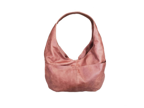 Distressed Brown Leather Hobo Bag, Classic Everyday Bags for Women, Alyna