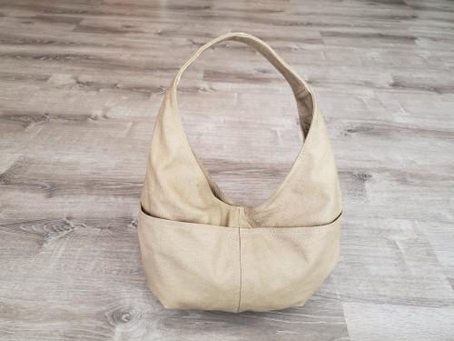 Camel Leather Hobo Bag, Everyday  Women Shoulder Bags, Alyna