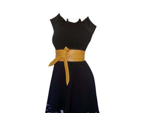 Unique Leather Wide Belt, Stylish Handmade Women Obi Belts, Dean