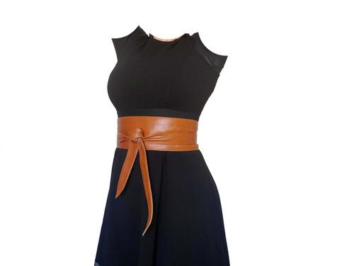 Leather Belt, Women Wide Wrap Obi Belts, Fashionable Stylish Design, Dean