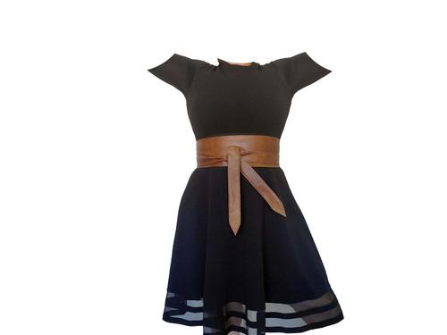 Unique Leather Wide Belt, Stylish Handmade Women Obi Belts,  Wraparound, Dean