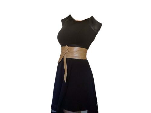 Rustic Wide Leather Belts, Wrap Leather Obi Belt, Women Trendy Accessories, Dean