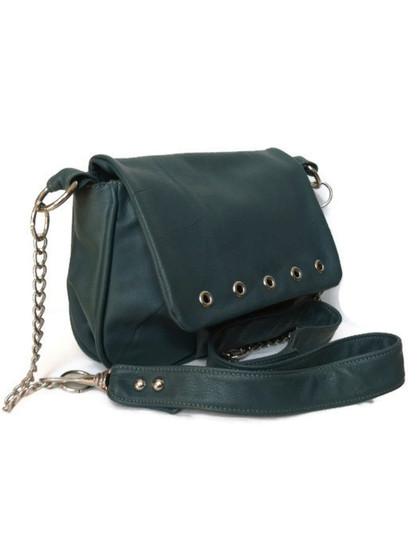 Hunter Green Leather Bag Purse, Everyday Crossbody Shoulder Handbag, Sury