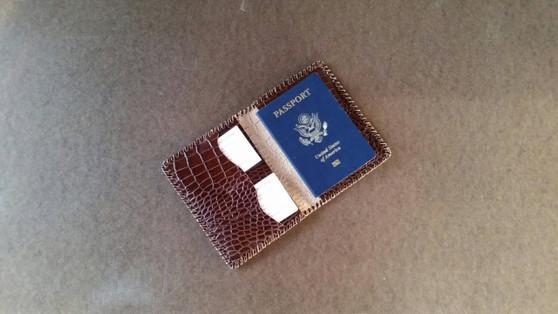 Unique Leather Passport Wallet, Travel Passport Case