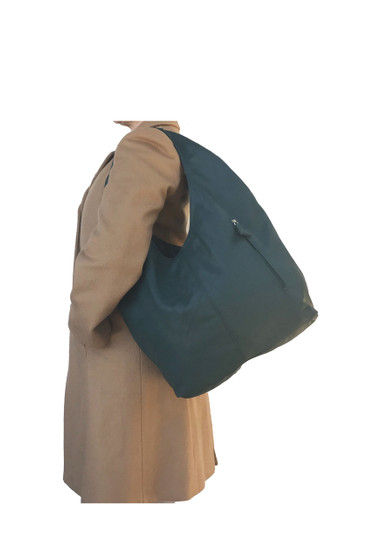 Green Leather Bag, Large Hobo Purse, Casual Fashion Bags, Alexis