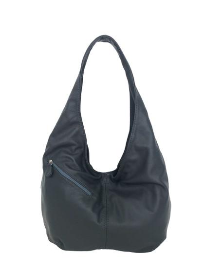 Gray Leather Hobo Bag w/ Pockets, Casual Everyday Fashion Purse, Alicia