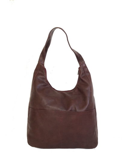 Mahogany Leather Hobo Bag, Everyday Fashion Bags, Coco