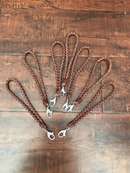 Braided brown leather Key Holder, Rustic Keychain, Handmade Bag Accessories