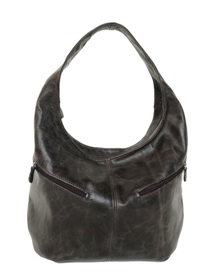 Distressed Brown Leather Hobo Bag, Casual Bags, Stylish Handbags, Aly