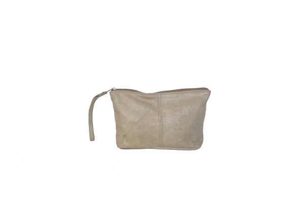 Leather Make up Bag, Pouch, Wristlet, Cosmetic Purse, Cosmos