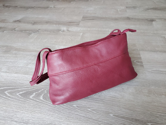 Small Leather Handbag, Everyday Shoulder Bag, Ivanna