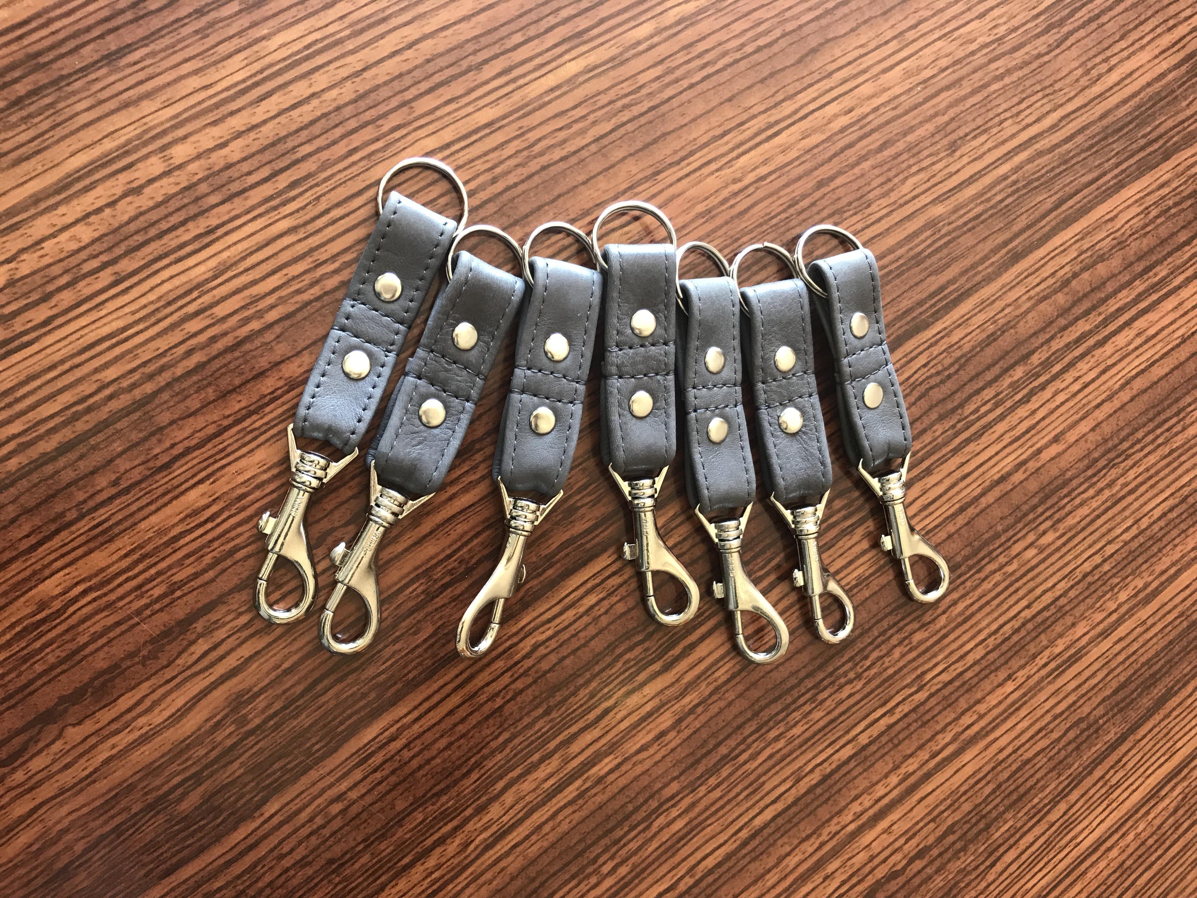 Strap Purses Braided Green Leather Wrist Strap Leather Keychain Key Holder