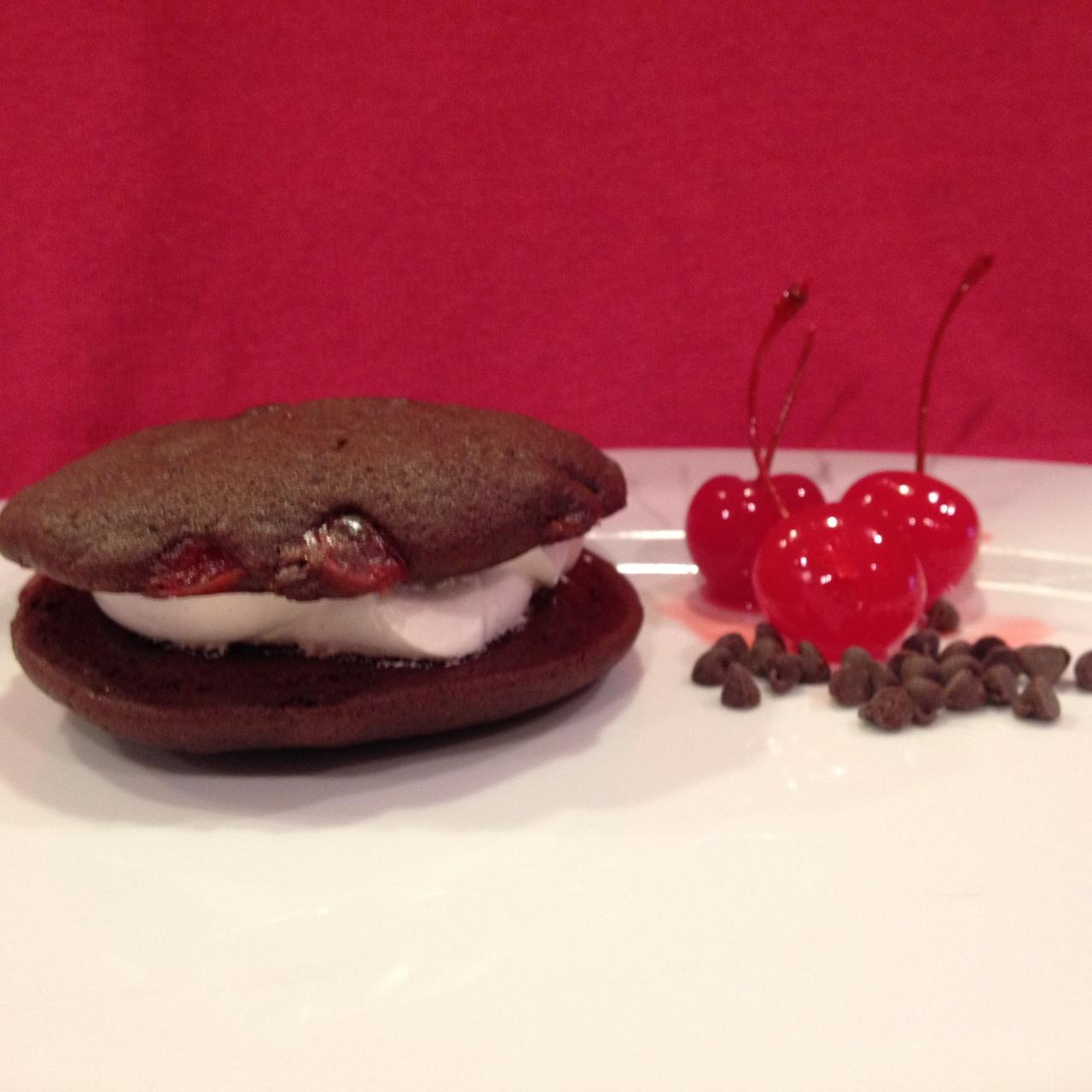 12 Pack Medium Chocolate Cherry Whoopie Pies Birthday Party Size