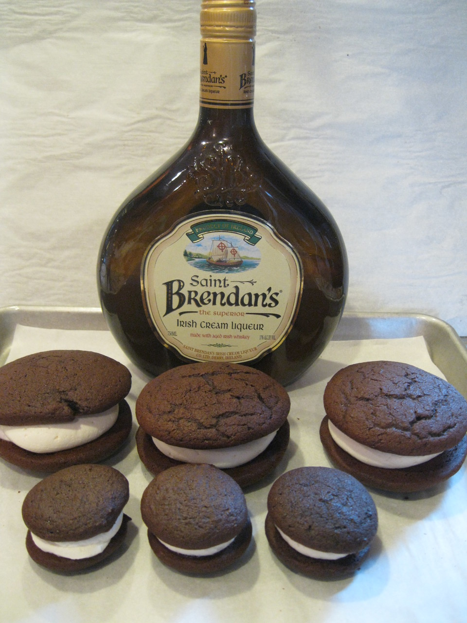Dozen Mini Irish Cream Whoopie Pies