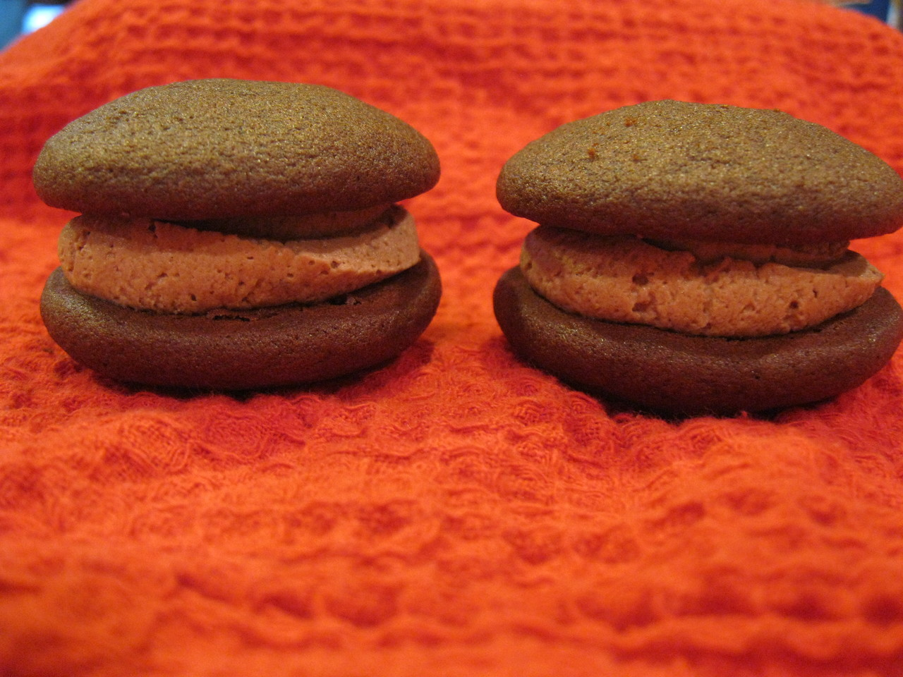 Dozen Mini Chocolate Mousse Whoopie Pies