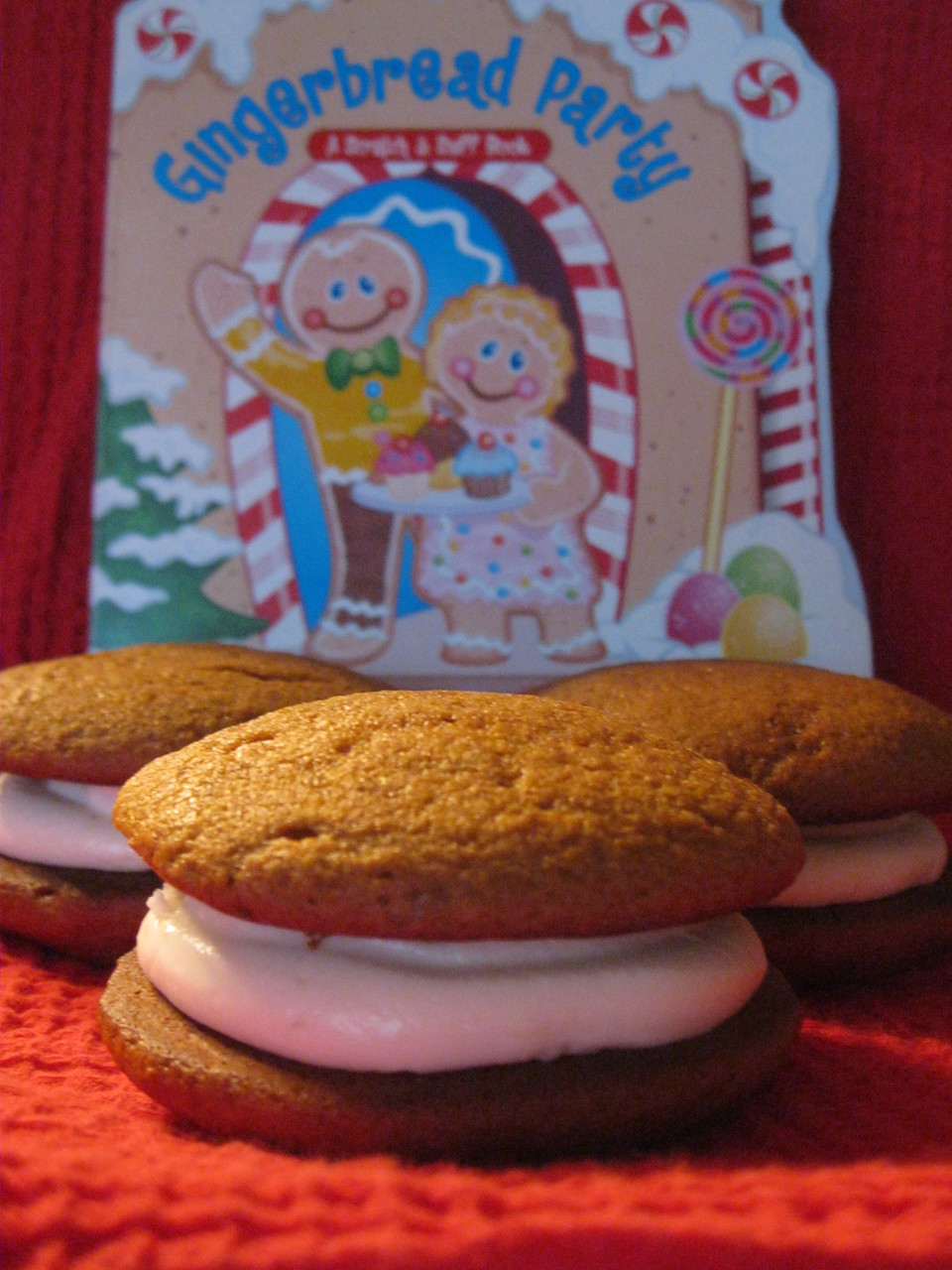 12 Pack- Medium Gingerbread Whoopie Pies (Cream Cheese Filled, Birthday Party Size)