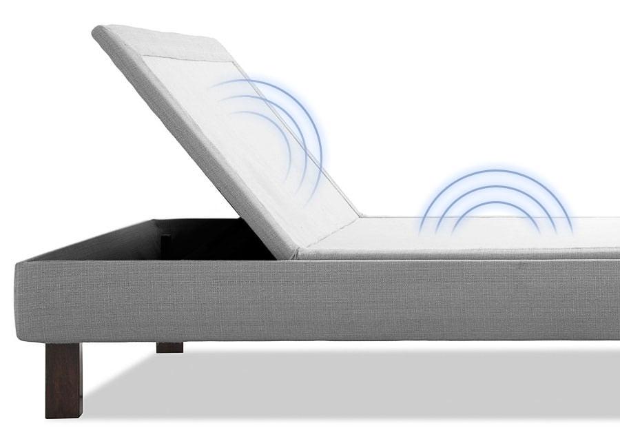 Amerisleep Adjustable Bed illustrating its massage motors