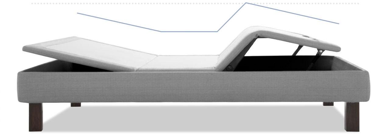 Amerisleep Adjustable Bed positioned in the zero gravity position