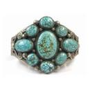 Natural Kingman Turquoise Cluster Bracelet - Calvin Martinez